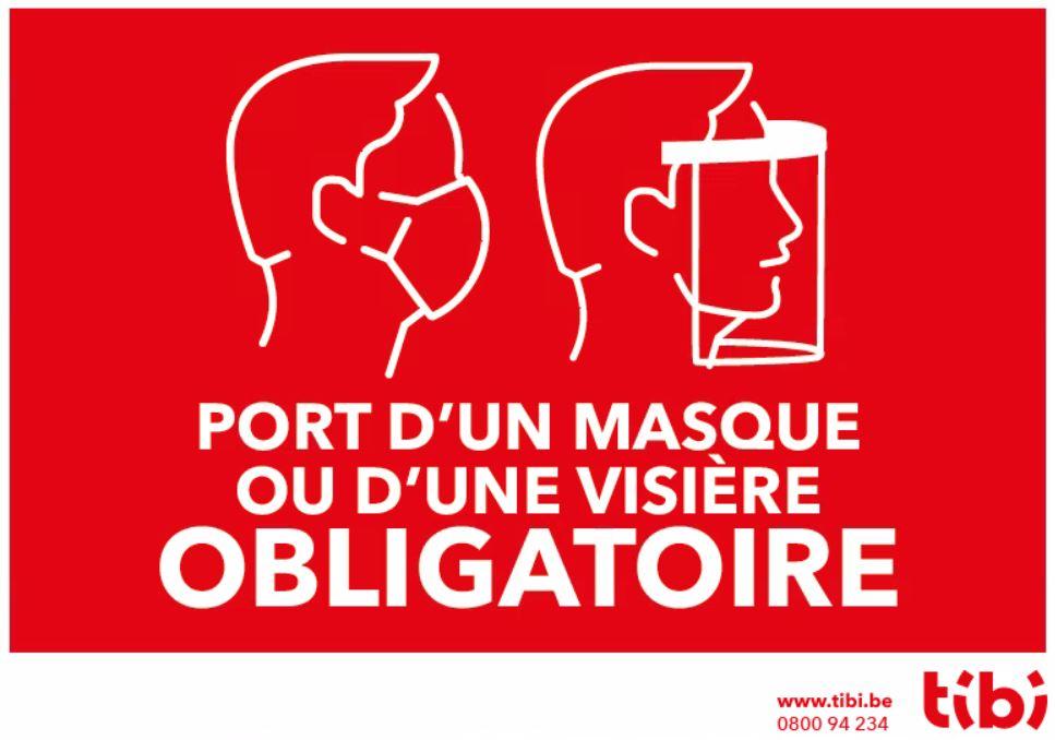 coronavirus: port du masque ou de la visière obligatoire pour accéder au recyparc Tibi
