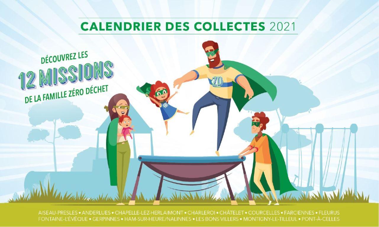 Calendrier des collectes 2021